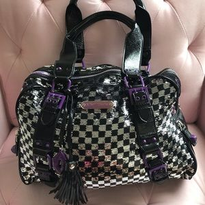 Betsey Johnson checkered sequins bag